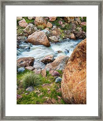 Framed Print featuring the photograph Boulder Creek by Alexander Kunz