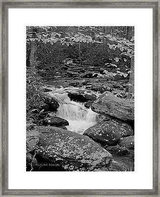 Boulder Creek Framed Print by DigiArt Diaries by Vicky B Fuller