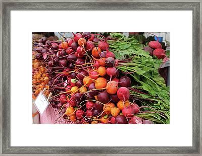 Boulder Farmer's Market Beets Framed Print by Robynn Balduf