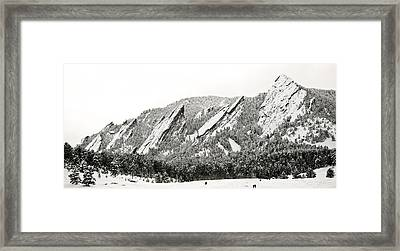 Boulder Flatirons Colorado 1 Framed Print by Marilyn Hunt