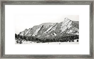 Boulder Flatirons Colorado 1 Framed Print