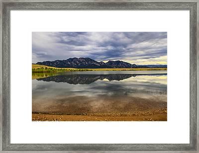 Boulder Flatirons From Marshall Lake Framed Print