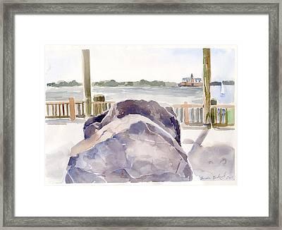 Boulder Framed Print by Linda Berkowitz