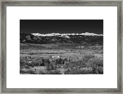 Boulder Overlook Framed Print by Marilyn Hunt
