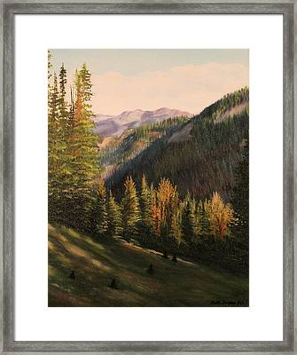 Boulder Pass Framed Print