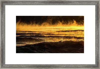 Fire Lake Framed Print