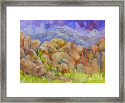 Bouldering Challenge Framed Print by Pat Crowther