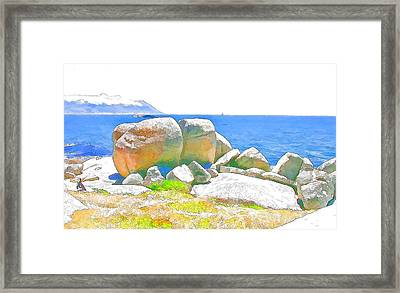 Boulders 4 Framed Print by Jan Hattingh