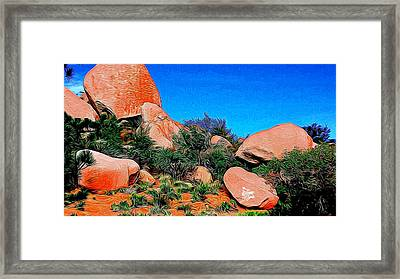 Boulders 7 In Abstract Framed Print