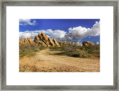 Boulders At Apple Valley Framed Print by James Eddy