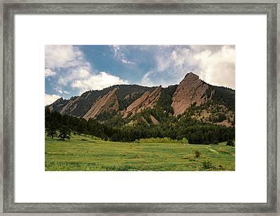 Boulder's Flatirons Framed Print