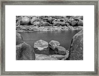 Framed Print featuring the photograph Boulders Of Tungabhadra, Hampi, 2017 by Hitendra SINKAR