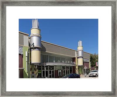 Boulevard Cinemas Theater In Petaluma California Usa Dsc3830 Framed Print