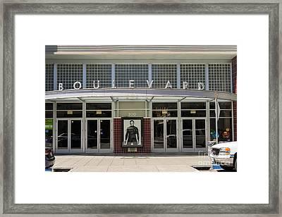 Boulevard Cinemas Theater In Petaluma California Usa Dsc3832 Framed Print