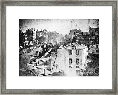 Boulevard Du Temple, By Daguerre, 1838 Framed Print by Science Source