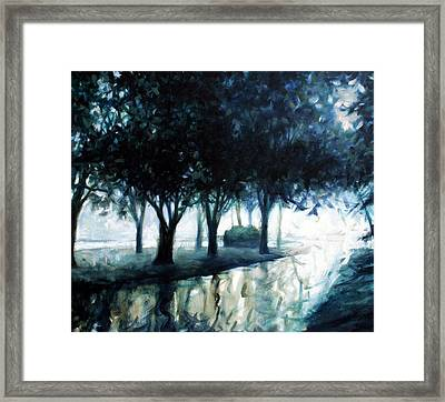 Boulevard Framed Print by Kevin Lawrence Leveque