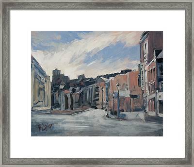 Boulevard La Sauveniere Liege Framed Print