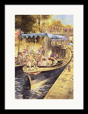 Boat Cruise Paintings Framed Prints