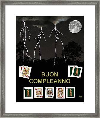 Boun Compleanno  Happy Birthday Poker  Framed Print