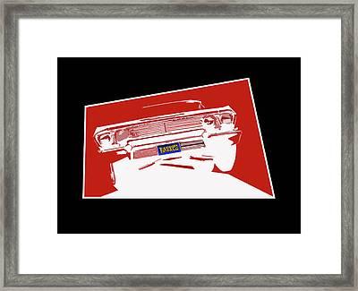 Bounce. '63 Impala Lowrider. Framed Print by MOTORVATE STUDIO Colin Tresadern