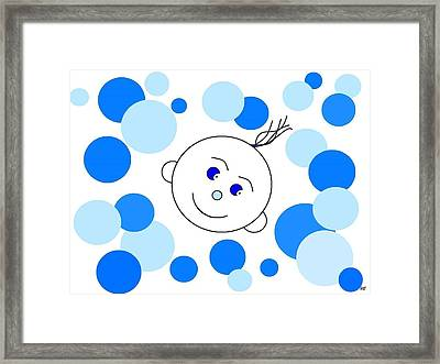 Bouncing Baby Boy Framed Print by Will Borden