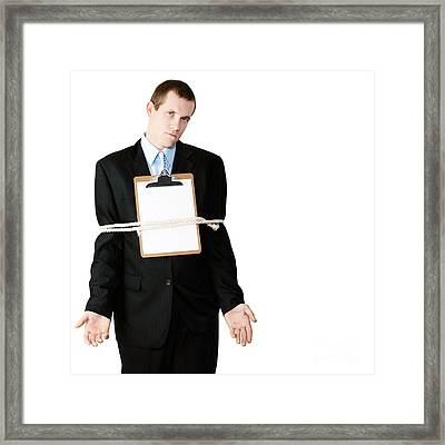 Bound And Tied By Bureaucracy Framed Print