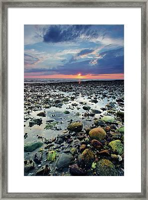 Bound Brook Sunset II Framed Print by Rick Berk