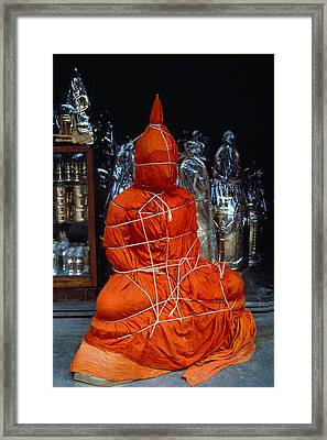 Framed Print featuring the photograph Bound Buddha by Carl Purcell