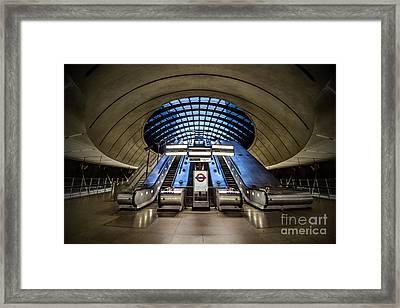 Bound For The Underground Framed Print