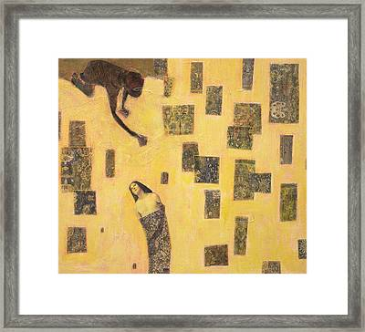 Framed Print featuring the painting Bound  by Geraldine Gracia