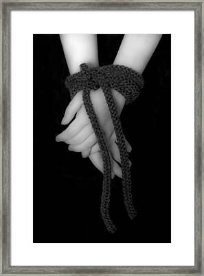 Bound Hands Framed Print