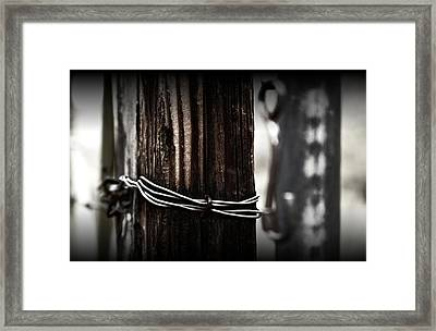 Framed Print featuring the photograph Bound  by Mark Ross