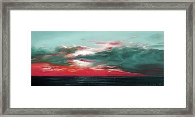 Bound Of Glory - Panoramic Sunset  Framed Print