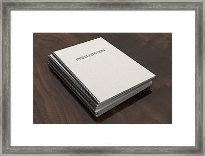 Bound Presentation Booklet Pile Framed Print