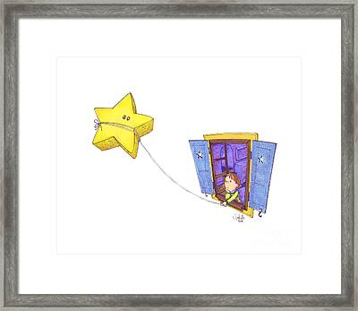 Framed Print featuring the painting Bound To A Star by Michael Ciccotello