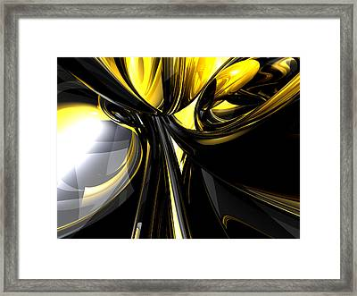 Bounded By Light Abstract Framed Print by Alexander Butler