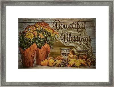 Bountiful Blessings Framed Print
