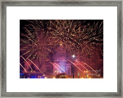 Bountiful Fireworks At 22nd Gocc Framed Print