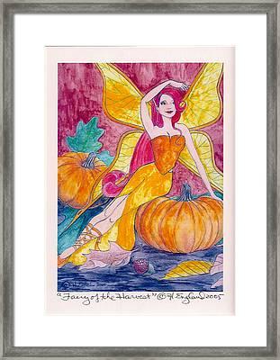 Bountiful Harvest Framed Print by Hilary England
