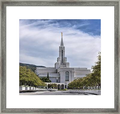 Bountiful Temple In Summer Framed Print