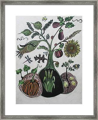 Bountiful Tree Framed Print by Grace Keown