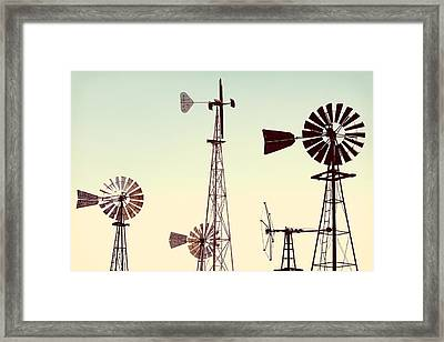 Bountiful Windmills Framed Print