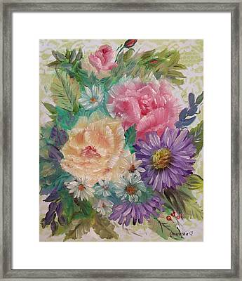 Framed Print featuring the painting Bouquet 2 by Quwatha Valentine