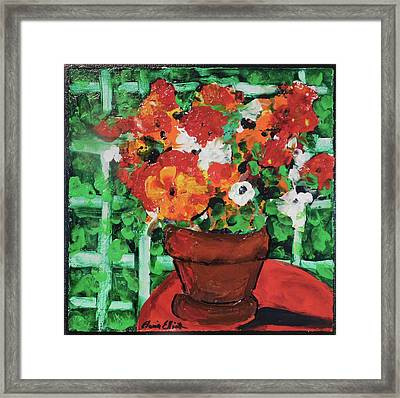 Bouquet A Day Floral Painting Original 59.00 By Elaine Elliott Framed Print by Elaine Elliott