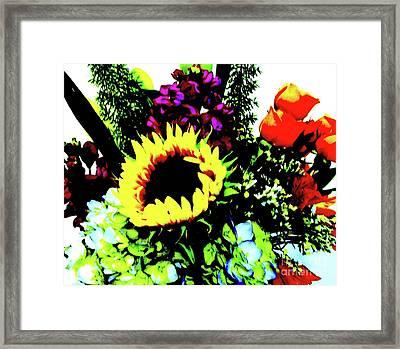 Bouquet Abstract Framed Print by Marsha Heiken