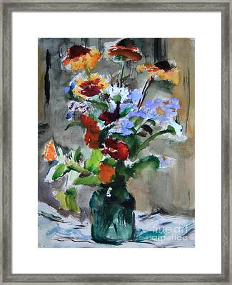 Bouquet Framed Print by Andrey Semionov