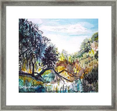 Bouquet Canyon Wash 1 Framed Print by Olga Kaczmar