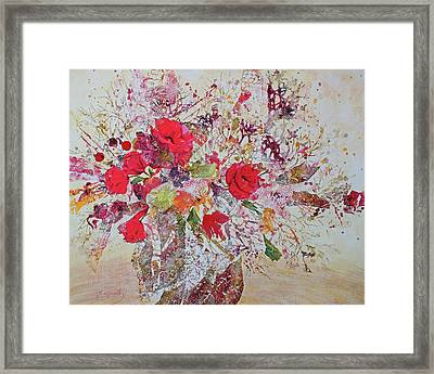 Framed Print featuring the painting Bouquet Desjours by Joanne Smoley