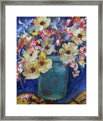 Bouquet Flowers Of Blue  Framed Print