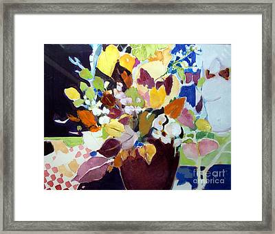Framed Print featuring the painting Bouquet For Sunday by Diane Ursin
